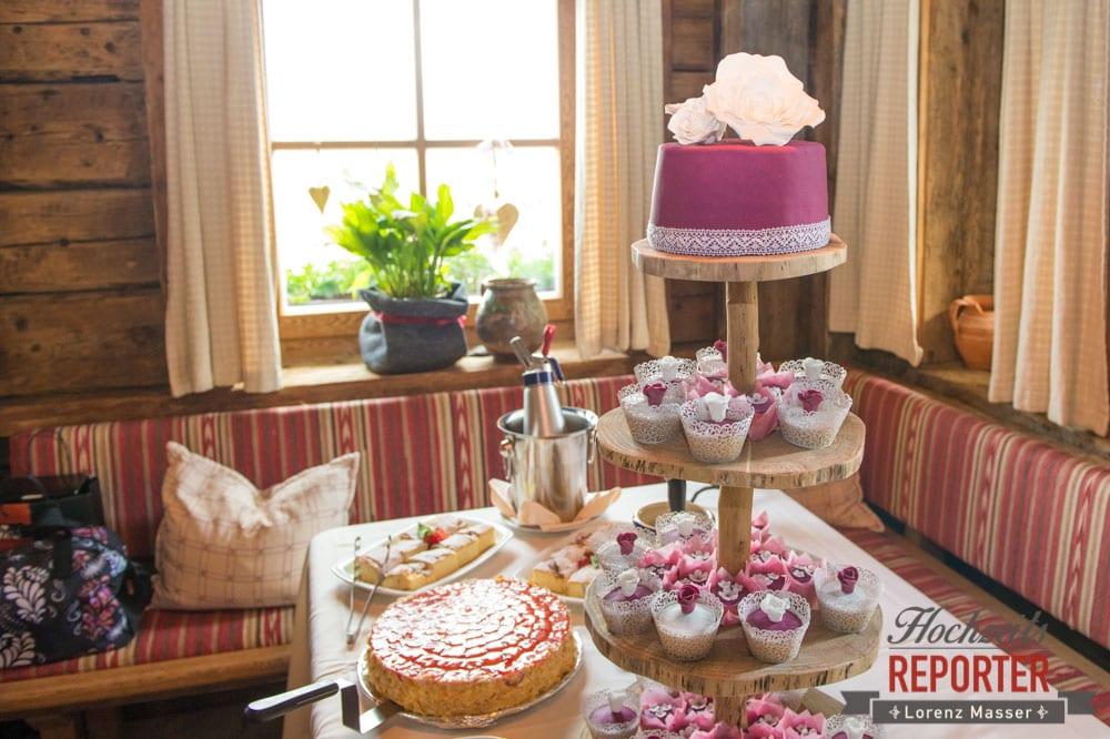 Cupcake, Hochzeitstorte, Pink, Fondant, Hochzeit, Hochzeitsfotograf, Land Salzburg, Leogang, Asitz