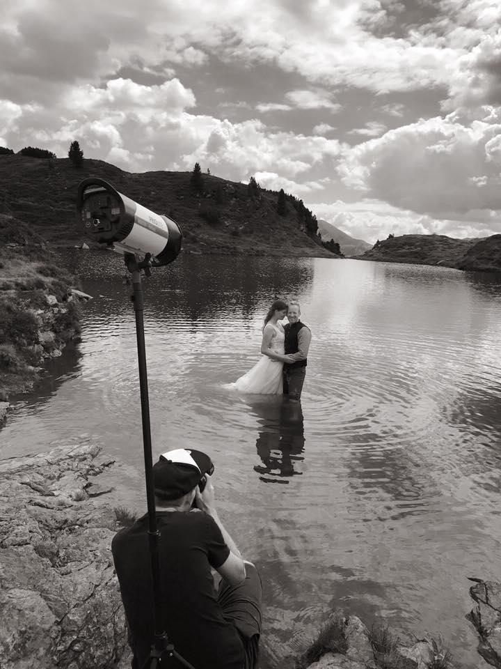 MakingOFF Hochzeitsshooting im See