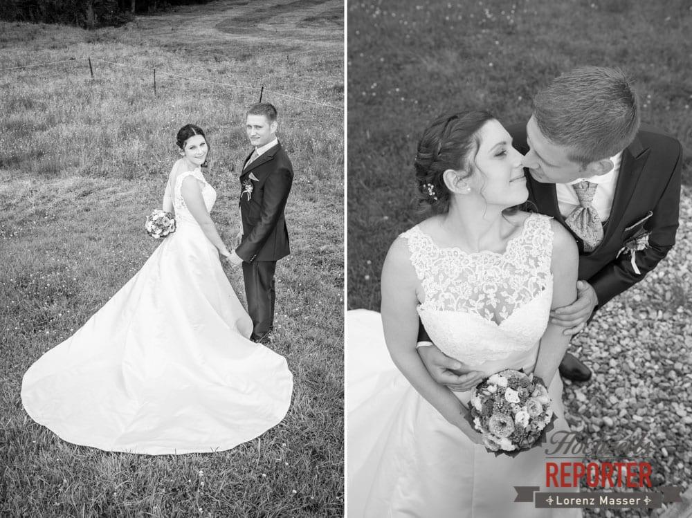 Brautpaar, Kuss, Schwarz Weiß, Portrait, Lisa Alm, Hochzeit, Wedding, Hochzeitsfotograf, Land Salzburg, Lorenz Masser