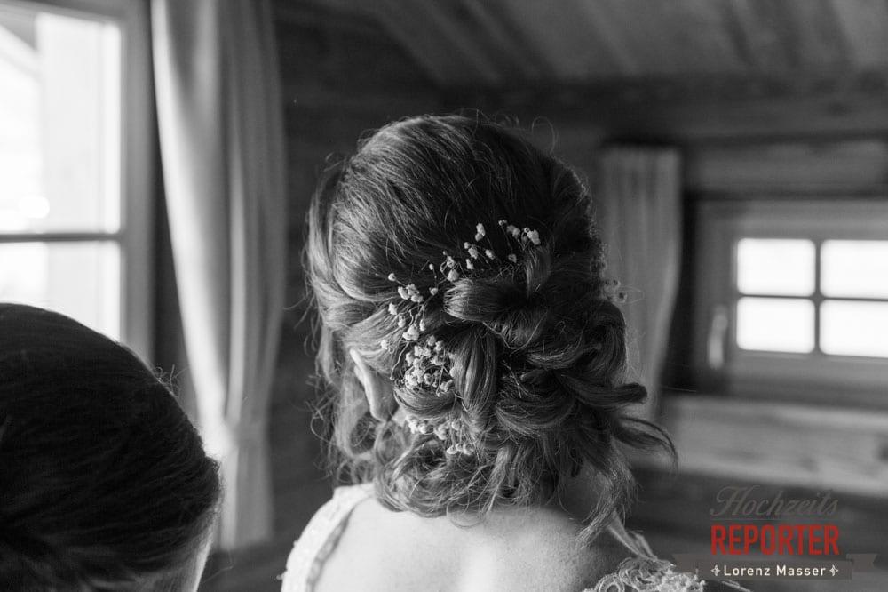 Detail, Frisur, Getting Ready, Getting Ready, Lisa Chalet, Flachau, Hochzeit, Wedding, Hochzeitsfotograf, Land Salzburg, Lorenz Masser