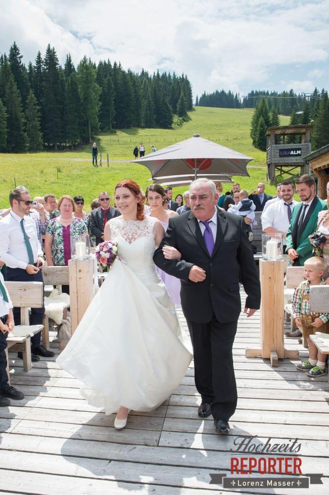Hochzeit in den Bergen, Trauung, Lisa Alm, Flachau, Hochzeit, Wedding, Hochzeitsfotograf, Land Salzburg, Lorenz Masser
