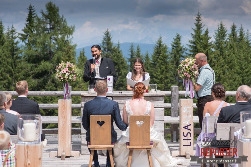 Trauung in den Bergen, Trauung, Lisa Alm, Flachau, Hochzeit, Wedding, Hochzeitsfotograf, Land Salzburg, Lorenz Masser