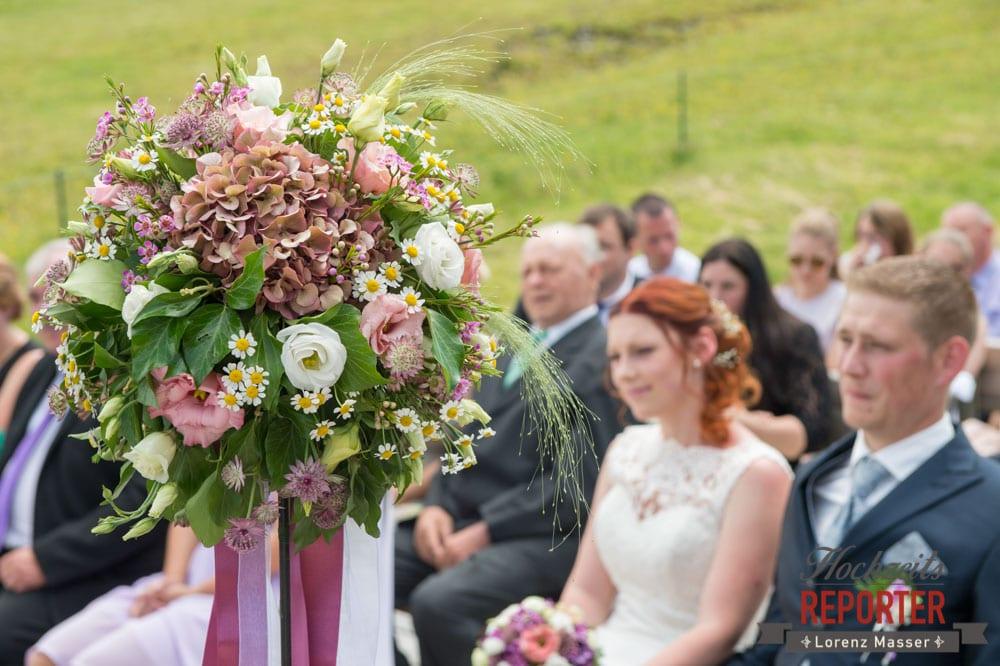 Brautstrauß, Brautpaar, Trauung, Lisa Alm, Flachau, Hochzeit, Wedding, Hochzeitsfotograf, Land Salzburg, Lorenz Masser