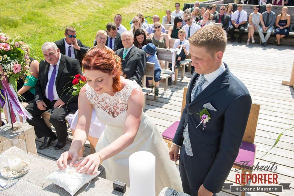 Ringe, Trauung, Lisa Alm, Flachau, Hochzeit, Wedding, Hochzeitsfotograf, Land Salzburg, Lorenz Masser